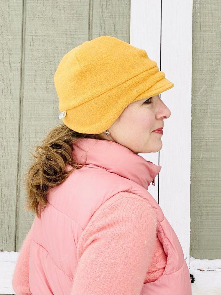 fleece earflap hat for women